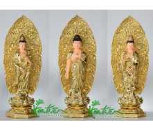 Three buddha set 70 cm